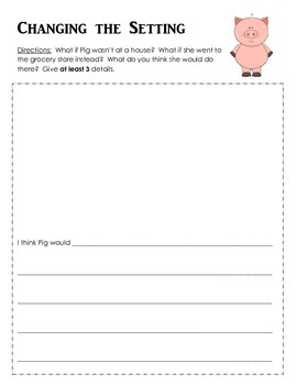 Pig in a Wig - Writing Extension