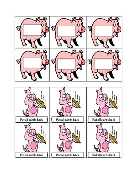 Pig in a Wig short i, long i word sort. Activities and worksheets included.