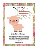 Pig in a Wig short i, long i word sort. Activities and wor