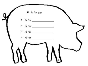 Pig shape skill book.