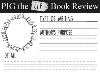 Pig the Elf Book Review - Author's purpose & type of writing