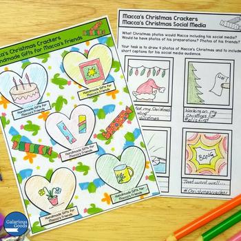 Pig the Elf and Macca's Christmas Crackers - Christmas Book Study Bundle
