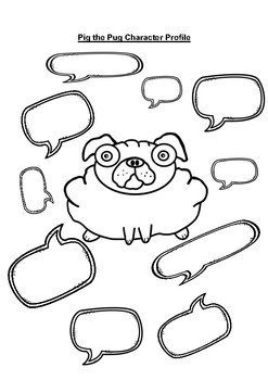 Pig the Pug Character Profiles Black and White