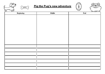Pig the Pugs New Adventure - Draw and Write