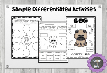 Pig the Star - Character Trait Activities