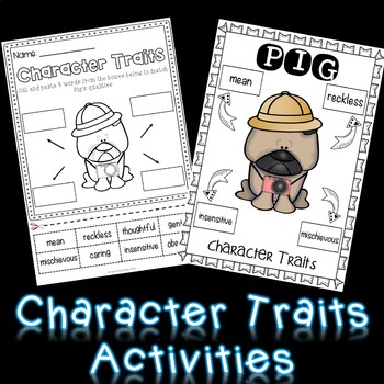 Pig the Tourist - Character Traits Activities | Aaron Blabey Activities