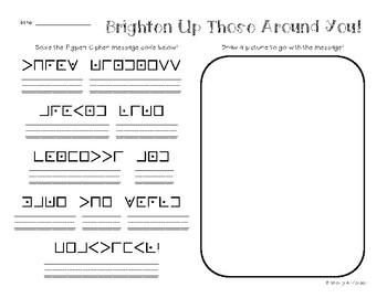 PigPen Cipher: Crack the Code - Positive Quotes Edition!