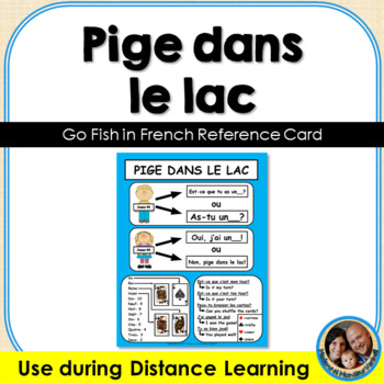 Pige dans le lac French Card Game Reference Sheet FREEBIE