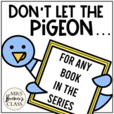 Pigeon Book Study & Craftivity for ANY Pigeon Book by Mo Willems