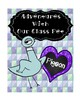 "Pigeon ""Class Pet"" & Student of the Week Posters- Mo Willems"