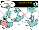 Pigeon Poses Clip Art Pack
