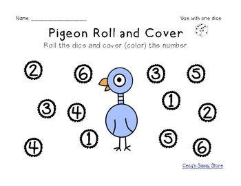 Pigeon Themed Literacy and Math Center Activities, Plus Fine Motor and STEAM
