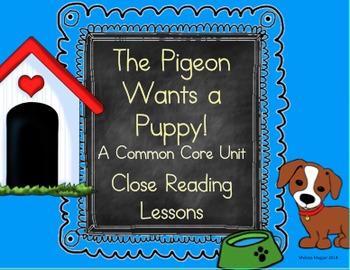 Schedule for teacher teaching resources teachers pay teachers pigeon wants a puppy a common core unit close reading fandeluxe Choice Image