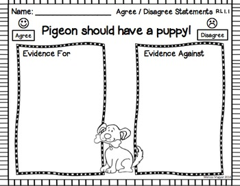 Pigeon Wants A Puppy A Common Core Unit Close Reading
