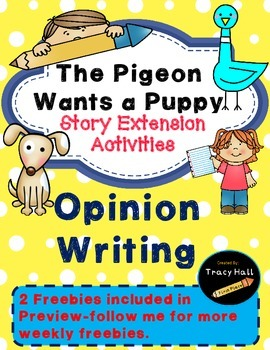 Pigeon Wants a Puppy Common Core Story Activities- Freebie in preview
