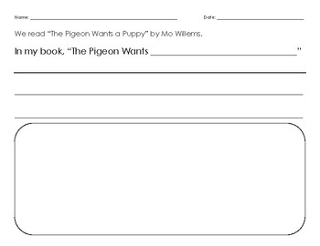 Pigeon Writing Prompt