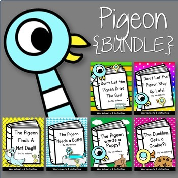 Pigeon and Duckling {BUNDLE} Worksheets and Activities