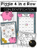 Coin Identification Game - Piggie 4 in a Row - Identifying Money