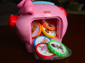 Piggie Bank Early Language Labels - Freebie