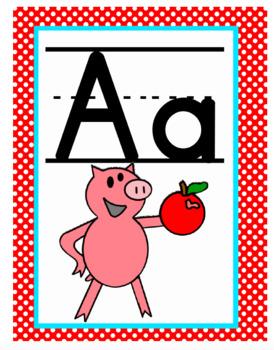 Piggie, Elephant, and Friends Alphabet Line - Room Decor