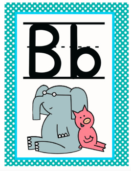 Pig, Elephant, and Friends Alphabet Line - Room Decor