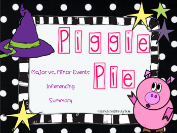 Piggie Pie: By Margie Palatini Mini Book Study