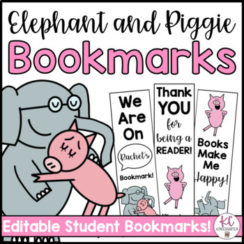 Piggie and Gerald Bookmarks