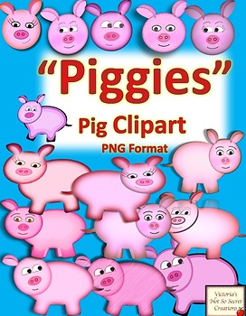 Piggies Pig CLIPART  PNG Format with High Resolution