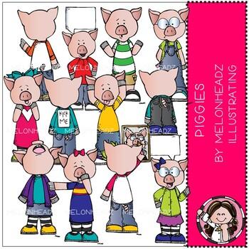 Piggies clip art - COMBO PACK - Melonheadz Clipart