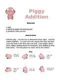 Piggy Addition for 1st Grade