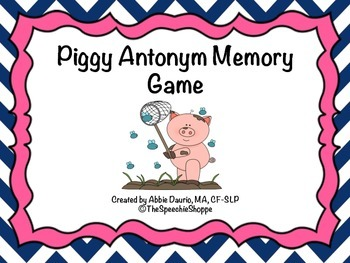 Piggy Antonym Memory Game