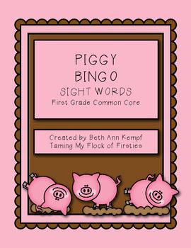 Piggy BINGO!!! First Grade Sight Words (Common Core Standards)