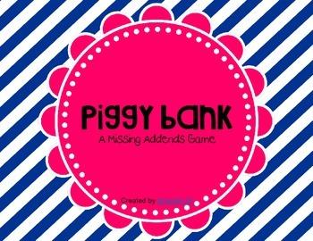 Piggy Bank: A Missing Addend Game