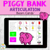 Piggy Bank Articulation BOOM Cards for Speech Therapy