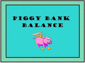 Piggy Bank Balance
