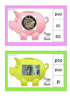 Piggy Bank Clip Cards