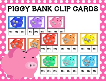 Piggy Bank Clip Cards