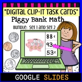 "Piggy Bank Clip It ""Bundle""- Google Classroom Digital Task Cards"