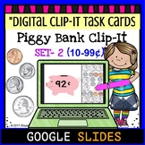 "Piggy Bank Clip It ""Set 2""- Google Classroom Digital Task Cards"