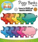 Piggy Bank Clipart {Zip-A-Dee-Doo-Dah Designs}