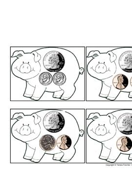 Piggy Bank Coin Flashcards