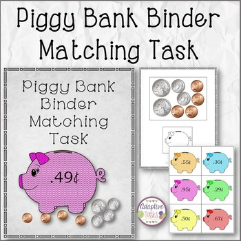Piggy Bank Binder Matching Task