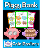 Counting Money - Piggy Bank Coin Posters