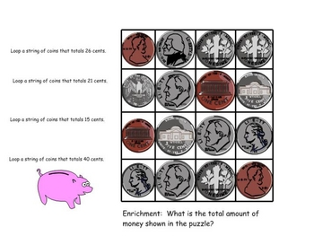 Piggy Bank Coin Puzzles