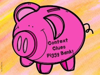 Piggy Bank Context Clues QR Code Fun