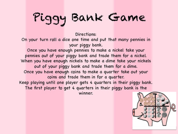 Piggy Bank - Counting Coins Game