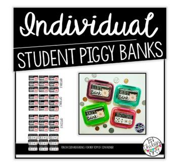 Piggy Bank Labels (editable)