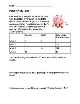 Piggy Bank Math