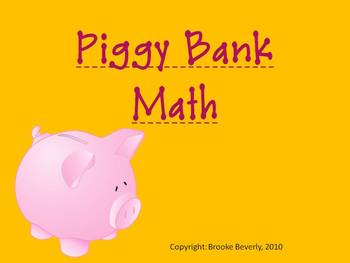 Piggy Bank Math Powerpoint- Ways to show coin amounts