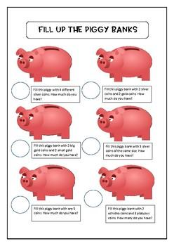 Piggy Bank Maths Board